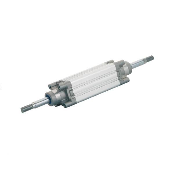 Cilindro ISO 15552  doble efecto vástago pasante amortiguado magnético