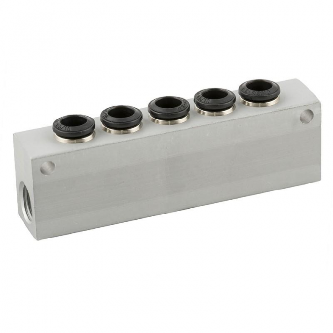 Regleta de aluminio A 5 vias